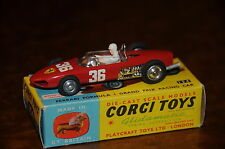 Vintage Corgi Toys / Ferrari Dino 156/65 Sharknose / Grand Prix Car / No. 154