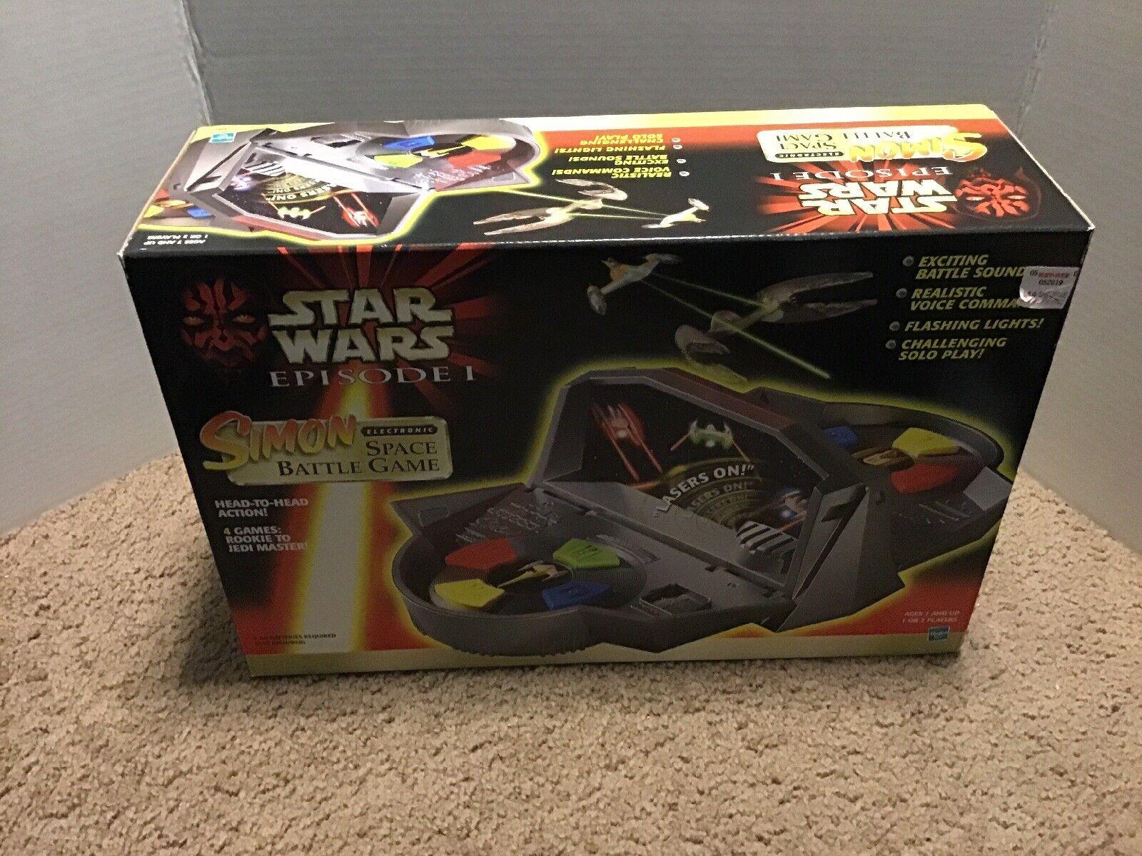 Vintage Star Wars Episode 1 Simon Says Electronic Space Battle Game Hasbro 1999
