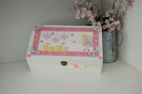Pretty Baby Girl Ballerina Keepsake Box Wooden Gift Memory Box PERSONALISED