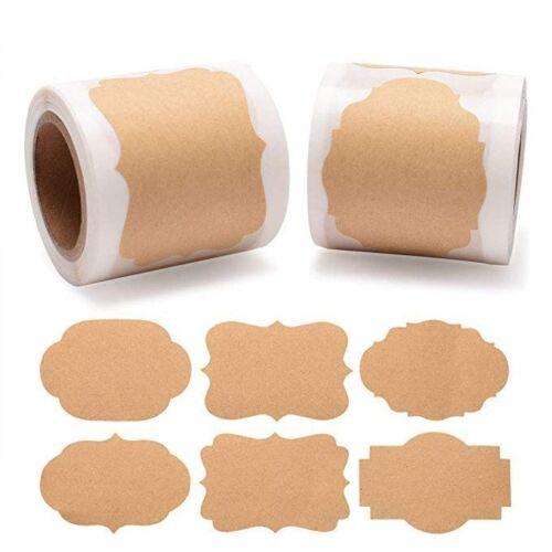 Details about  /DIY Vierge Papier Kraft Étiquettes Autocollants Usage Pour Cadeau Mariage Boîtes