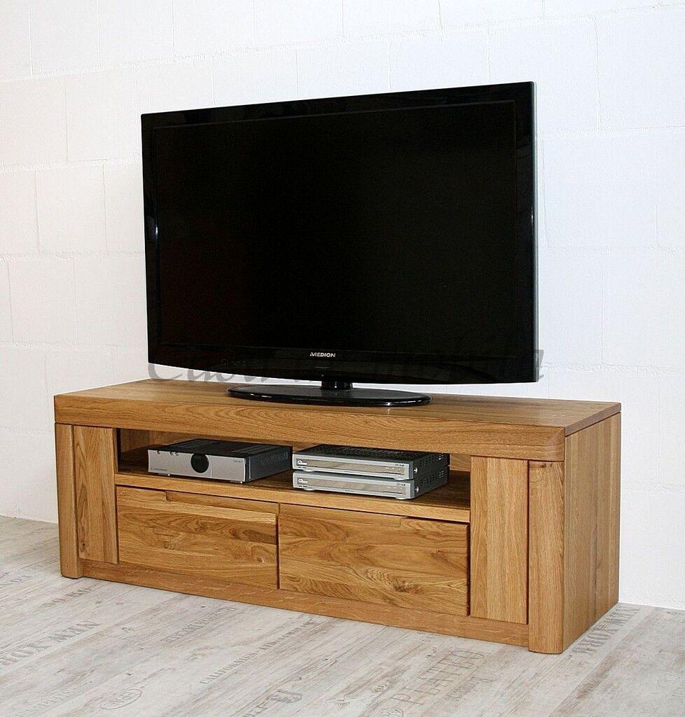 Massivholz TV-Lowboard Wildeiche geölt Phono-Kommode Fernseh-schrank Anrichte