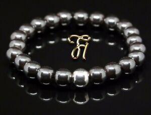 Haematit-925er-sterling-Silber-Armband-Bracelet-Perlenarmband-8mm