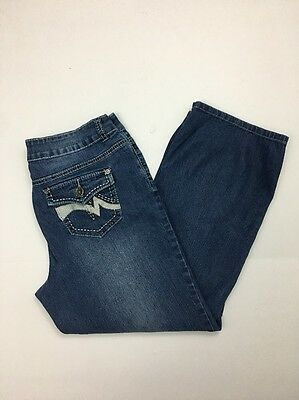 """Clothing, Shoes & Accessories Jeans Discreet Vsh Capri Cropped Size 8 X 25"""" Embellished Flap Pocket Thick Stitch Stretch-179 A Plastic Case Is Compartmentalized For Safe Storage"""