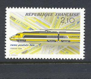 France-1984-SG-2641-Railway-TGV-MNH
