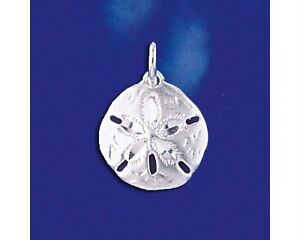 Sterling silver sand dollar pendant marine shell beach charm solid image is loading sterling silver sand dollar pendant marine shell beach aloadofball Image collections
