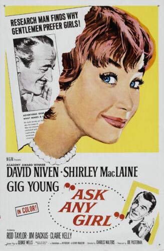 Ask any girl Shirley MacLaine David Niven movie poster print