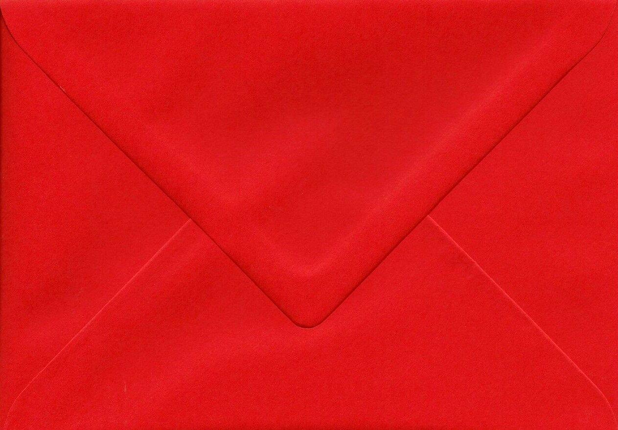 Briefumschläge Rot DIN C6 spitze Klappe ohne Fenster nassklebend KuGrün | Reichlich Und Pünktliche Lieferung  | Klein und fein