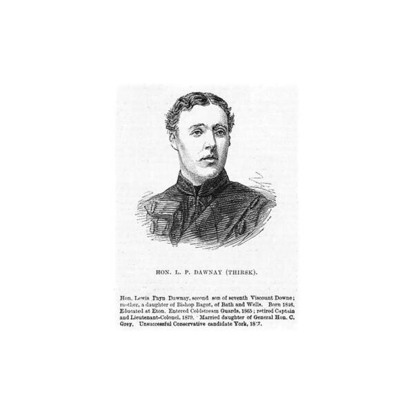 Lewis à La Carte Dawnay Mp Pour Thirsk; Politicien Conservateur-impression Antique 1880