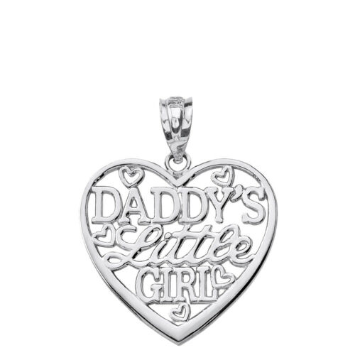 .925 Sterling Silver Daddy/'s Little Girl Heart Pendant Necklace