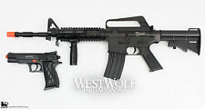 M4 / M16 COLT Military Airsoft Assault Rifle + Sidearm Gun/Pistol + Many Extras