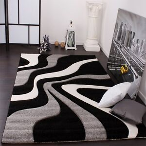 Modern Rugs Grey Black And White