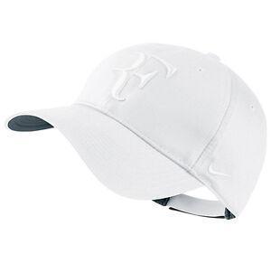 0134f9784353 New Nike RF Roger Federer Hybrid Hat Cap White Tennis Dri Fit 371202 ...