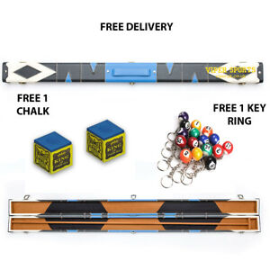 3-4-Snooker-Pool-Hard-Cue-Case-Free-Chalk-Free-Snooker-Ball-Key-ring-Any-NO