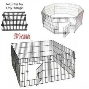 Pet-Dog-Pen-Puppy-Foldable-Playpen-61-CM-Indoor-Outdoor-Enclosure-8-Panels-CAGE