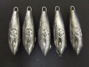 5-x-3oz-Pro-Beach-Bomb-Lead-Weights-Lure-Cod-Sea-Pier-Mackerel-Bait-Fishing