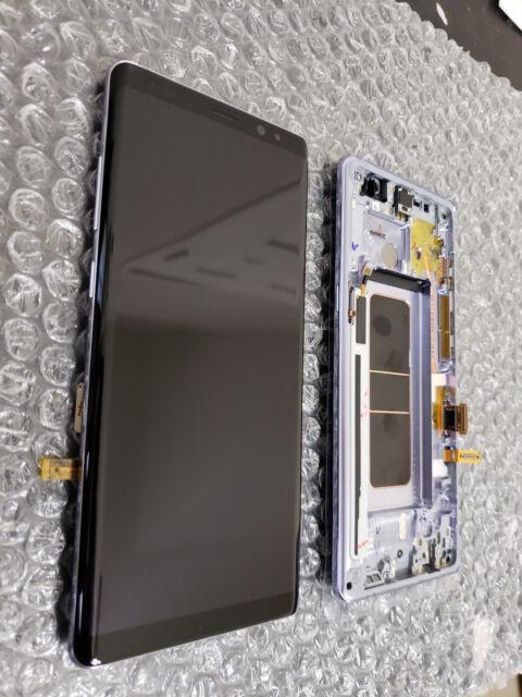 Mint Samsung Galaxy Note 8 Note8 N950 LCD Digitizer Frame Screen Gray - LCD Burn