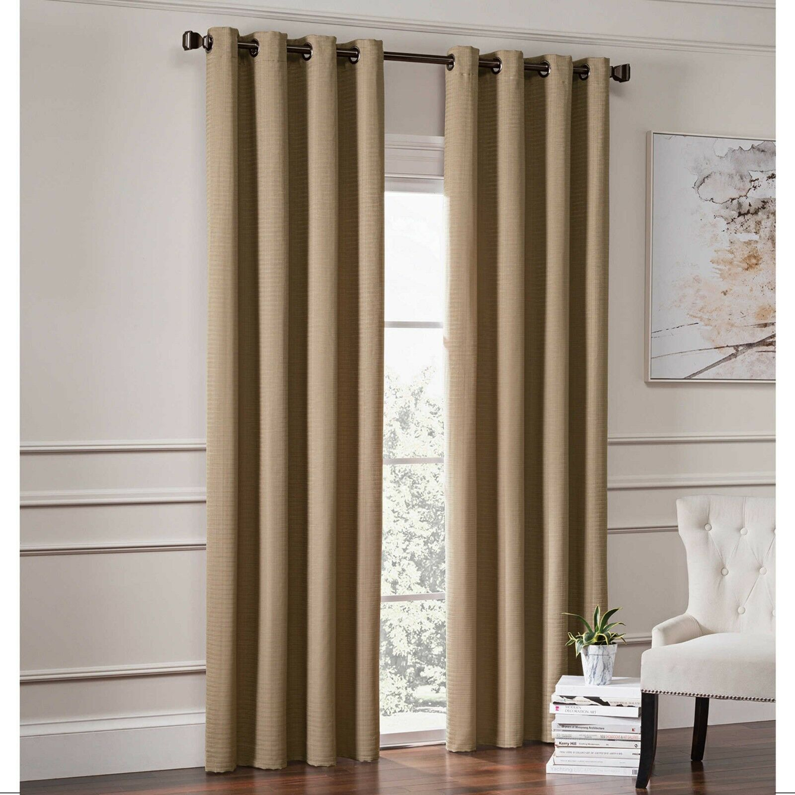 Garland Lined Grommet Top Room Darkening Window Curtain Panel  108