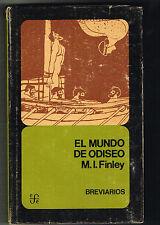 M I Finley El Mundo De Odiseo Ancient History Breviario 158 FCE 1975 HC