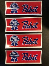 PABST BLUE RIBBON BEER 1.5? X 4? STICKER Lot Of 4
