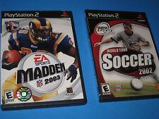 EA SPORTS MADDEN NFL 2003 + 989 WORLD TOUR SOCCOR 2002 PlayStation 2 Manual  5K3