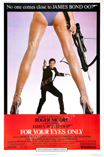 MOV196 Posters USA 007 For Your Eyes Only Movie Poster Glossy Finish