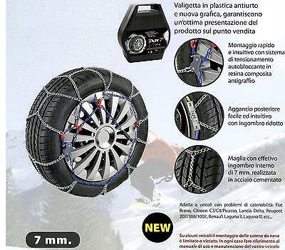 07X110 Catene da Neve Power Grip 7mm Omologate gruppo 110 pneumatici 235//45r17