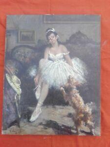 Olio-su-tela-034-Ballerina-034-cm-40x50-Antikidea