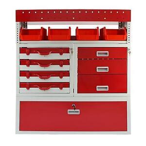 Van-Racking-Metal-Shelving-System-Steel-Rack-Tool-Storage-Drawers-Lockable-Unit