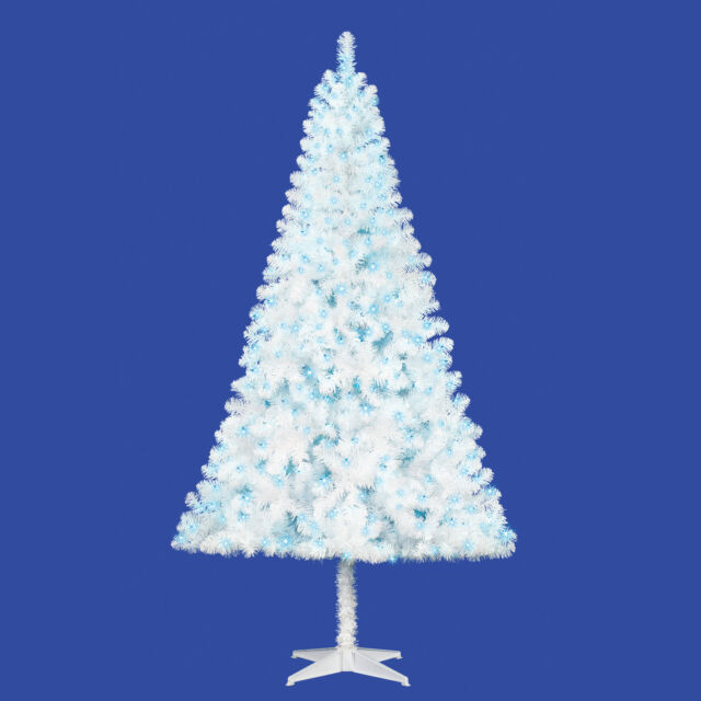Holiday Time Pre-Lit 6.5\' Madison Pine White Artificial Christmas Tree blue