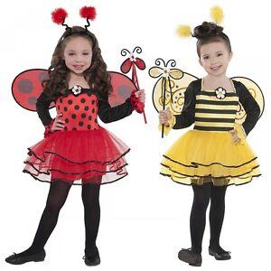 Ladybug Or Bumble Bee Costume Toddler Kids Halloween Fancy Dress Ebay