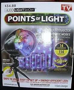 Details about Points of Light Christmas Lightshow Projection w/Remote 114  Programs LAST ONE!!