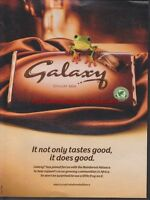 Galaxy Chocolate Bar 2010 Magazine Advert #1468