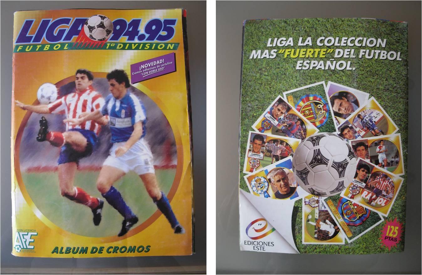 ALBUM LIGA 94-95 EDICIONES ESTE 1994-1995 CON UNOS 456 CROMOS