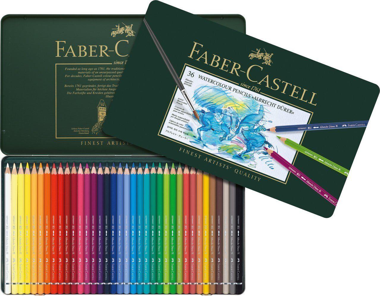 Faber Castell 117536 Aquarellstift Albrecht Dürer 36 Metalletui | Vollständige Spezifikation  | Produktqualität  | New Product 2019