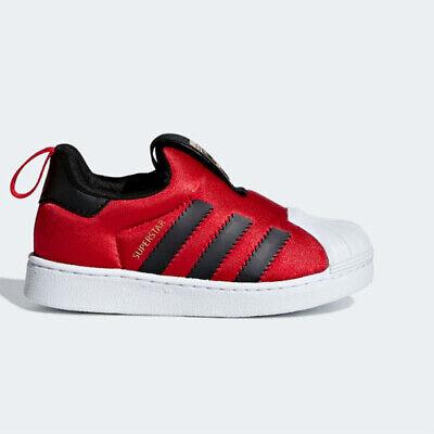 Adidas CG6581 toddler Superstar 360 I baby shoes kids red black gold   eBay