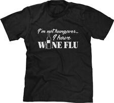Its Not A Hangover Its Wine Flu Vino Glass Funny Joke Humor Mens V-neck T-shirt