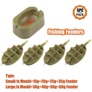 Inline-method-carp-fishing-feeder-4-feeders-15-20-25-35g-30-40-50-60g-mould-ZY