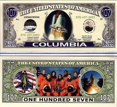 Space Suttle Columbia STS-107  Novelty Money