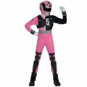 Image is loading Power-Rangers-SPD-Deluxe-Pink-Ranger-Child-Costume-  sc 1 st  eBay & Power Rangers SPD Deluxe Pink Ranger Child Costume Size 7-8 Medium ...