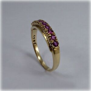 9ct-Gold-Ruby-Dress-Ring-1986-hallmark