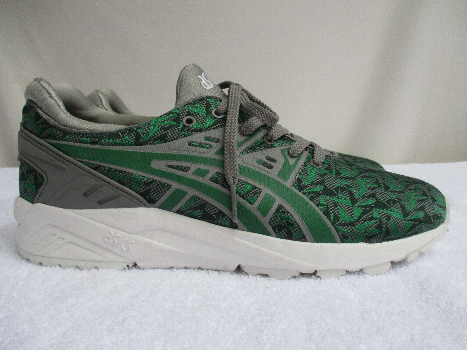 ASICS..GEL-KAYANO ASICS..GEL-KAYANO ASICS..GEL-KAYANO TRAINER EVO..GREEN & GREY..GEOMETRIC PATTERN..SNEAKERS..9 NEW 88ec5b