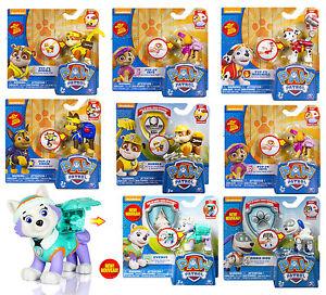 PAW PATROL personaggi action con badge 6022626 602265 SPINMASTER nuovo Italia