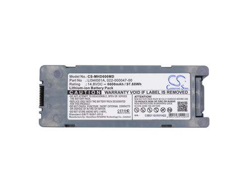 6600mAh Battery for Mindray BeneHeart D6, 022-000012-00, LI34I001A