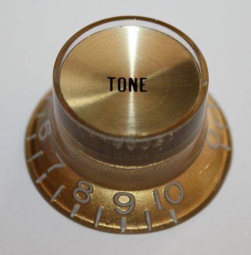 Bell knob Knopf Potiknopf Tone gold spiegel Gold Tone