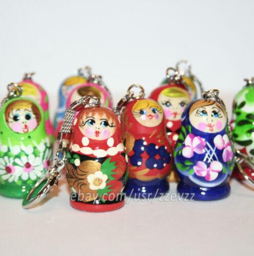 Keychain nesting dolls matryoshka trinket babushka doll HANDMADE