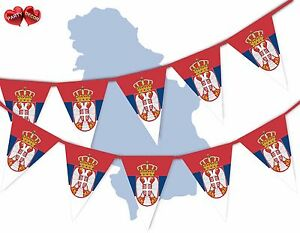 Serbia-Full-Flag-Patriotic-Themed-Bunting-Banner-15-Triangle-flags-National