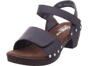Rieker Damen Sandale Sandalette Sommerschuhe schwarz | eBay WnIdb