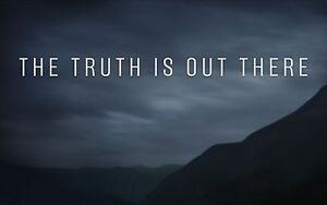 the xfiles tv poster quotthe truth is out therequot i want to