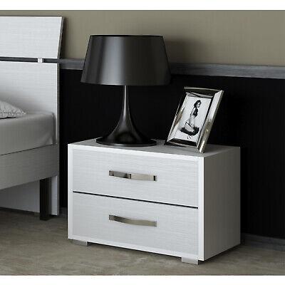design moderno con 2 cassetti Wakects Comodino da letto soggiorno 39,9 x 35,1 x 50,8 cm per camera da letto