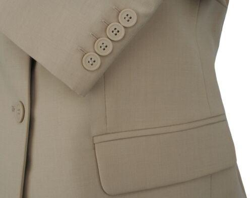 Simon Jersey Ladies Two Button Wool Rich Suit Jacket Blazer Camel